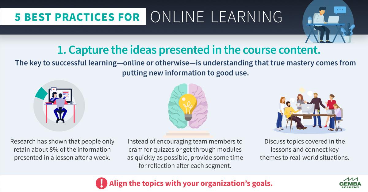 Infographic teaser online learning